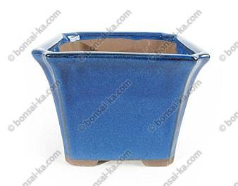 Pot à bonsaï cascade emaillé bleu 150x150mm