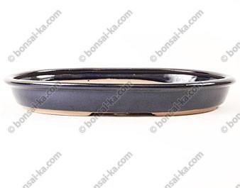 Poterie ovale en grès de Yixing émaillé 310x205x35mm