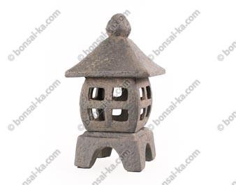 Lanterne japonaise carrée en céramique couleur lave 30cm - ref.2