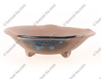 Pot à kusamono rond japonais en grès 150x40mm