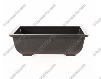 Pot de culture rectangulaire plastique injecté brun 140x105x50mm