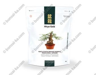Hiryo Gold Croissance et prébonsaï engrais organique solide microgranules NPK 10-6-8 sachet de 350g