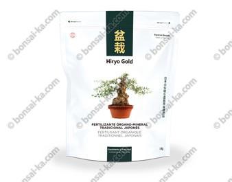 Hiryo Gold Croissance et prébonsaï engrais organique solide microgranules NPK 10-6-8 sac de 1 kg