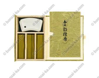 Coffret japonais d'encens d'exception au santal Byakudan