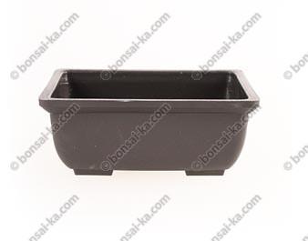 Pot de culture rectangulaire plastique injecté brun 150x100x60mm