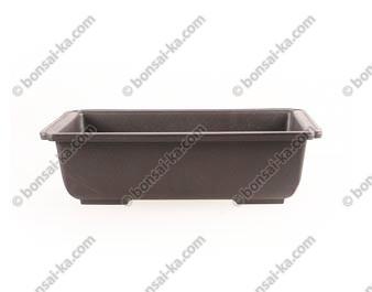 Pot de culture rectangulaire plastique injecté brun 240x170x70mm