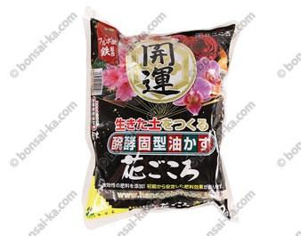Engrais organique solide japonais hanagokoro grosses boulettes Ø 25 mm sachet de 500g