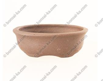 Poterie ovale en grès de Yixing 95x65x35mm