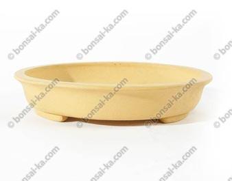 Poterie ovale en grès de Yixing 155x135x30mm