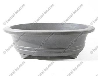 Poterie ovale en grès de Yixing brun 280x240x85mm