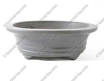 Poterie ovale en grès de Yixing brun 185x150x65mm