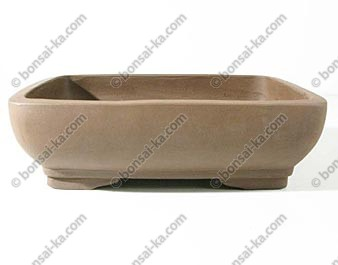 Pot rectangulaire en gres de Yixing 250x180x80mm