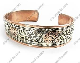 Bracelet Tibétain filigrane 3 métaux
