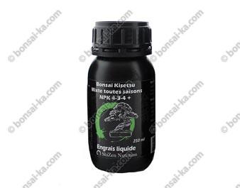 Engrais organique liquide enrichi pour bonsaï Kisetsu Mixte toutes saisons 250 ml