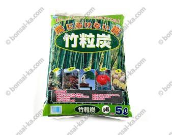 Charbon de bambou granulométrie 4-8 mm sac de 5 L