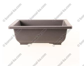 Pot de culture rectangulaire en plastique injecté brun 225x165x80mm
