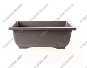Pot de culture rectangulaire en plastique injecté brun 290x210x105mm