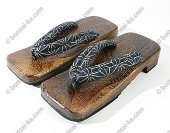 Sandales japonaises Geta en bois pour homme T42-43