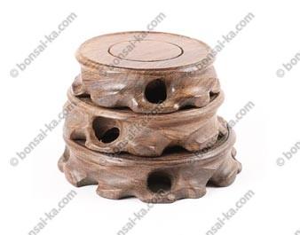 Set de 3 socles de présentation sculptés en bois de fer HM-66