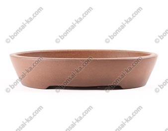 Poterie ovale en grès de Yixing 290x230x60mm