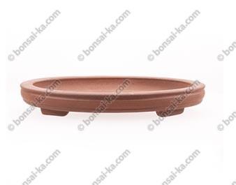 Poterie ovale en grès de Yixing 285x195x37mm