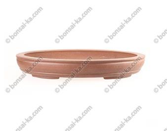 Poterie ovale en grès de Yixing 350x260x50mm