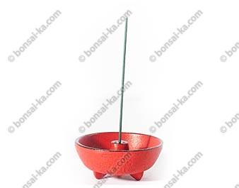 Brule-encens Japonais en fonte rouge Iwachu