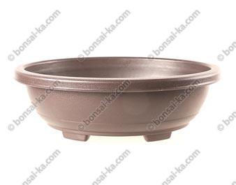 Pot de culture ovale en plastique injecté brun 300x240x100mm