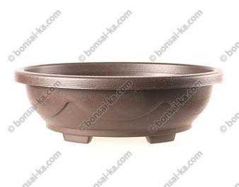Pot de culture ovale en plastique injecté brun 420x330x135mm
