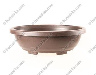 Pot de culture ovale en plastique injecté brun 480x380x150mm