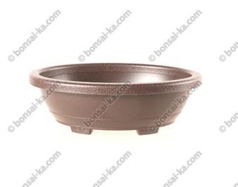 Pot de culture ovale en plastique injecté brun 185x145x60mm