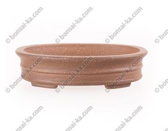 Poterie ovale en grès de Yixing 150x120x38mm