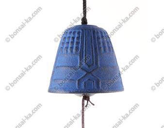 Mini carillon éolien en fonte bleue Iwachu
