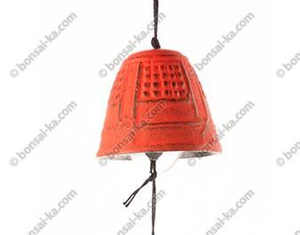 Mini carillon éolien en fonte rouge Iwachu
