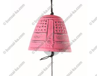 Mini carillon éolien en fonte rose Iwachu