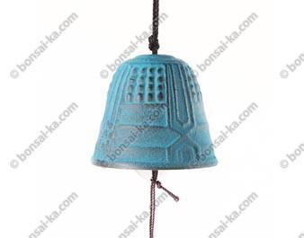 Mini carillon éolien en fonte turquoise Iwachu