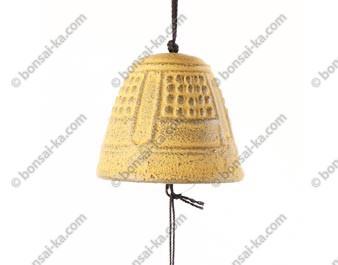 Mini carillon éolien en fonte jaune Iwachu
