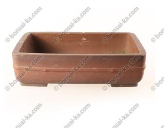 Poterie rectangulaire en grès de Yi-Xing brut finition antique 305x230x80mm - Occasion
