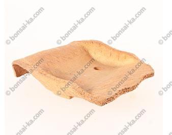 Poterie artisanale en grès brut 230x190x50mm - Occasion