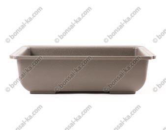 Pot de culture rectangulaire plastique injecté brun 245x175x70mm