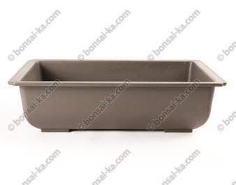 Pot de culture rectangulaire plastique injecté brun 350x265x95mm