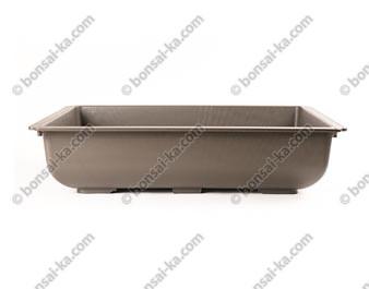 Pot de culture rectangulaire plastique injecté brun 500x415x115mm