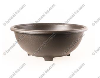 Pot de culture rond japonais plastique injecté brun 360x140mm