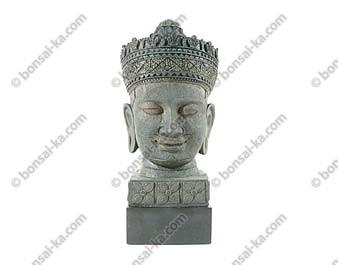 Jayavarman VII tête sur socle en résine 34cm