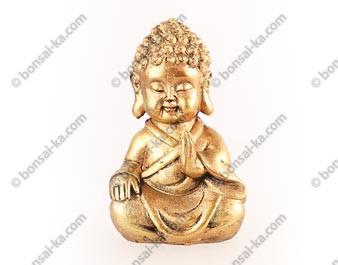 Petit Bouddha doré statuette en résine 11 cm