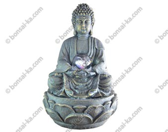 Fontaine d'intérieur Grand Bouddha méditation 33 cm