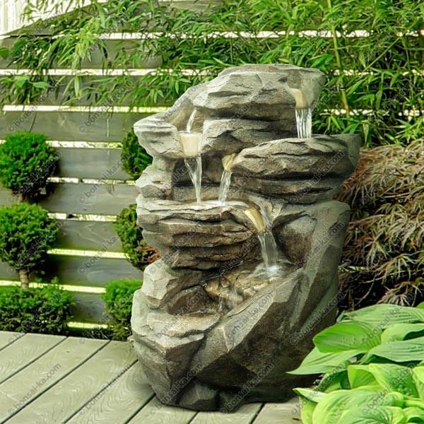 Grande fontaine de jardin ou d\'intérieur Niagara XL 71 cm - bonsai-ka