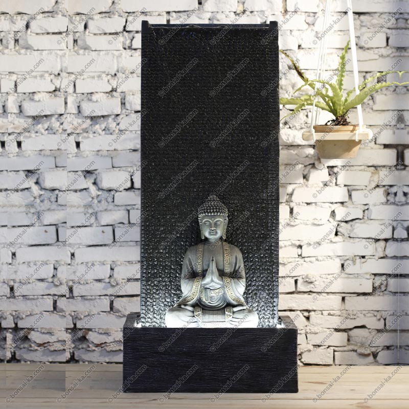 fontaine d 39 int rieur mur d 39 eau bouddha xl 100 cm bonsai ka. Black Bedroom Furniture Sets. Home Design Ideas