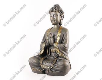 Grand Bouddha méditation statue 40 cm polyrésine