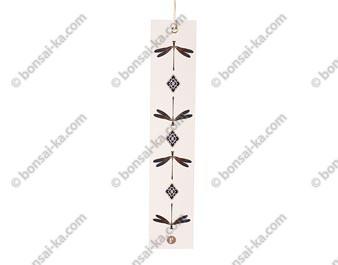 Bandelette de papier Tanzaku motif libellule pour carillon éolien japonais